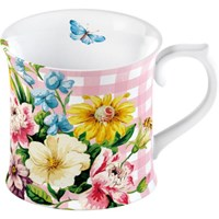 Creative Tops Katie Alice English Garden Porcelánový hrnek růžová kostka 295 ml