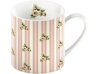 Creative Tops Katie Alice Cottage Flower Porcelánový hrnek Pink Stripe 330 ml