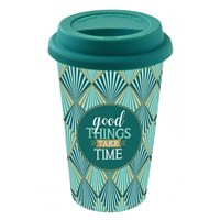 Easy Life Cups & Mugs Coffee Mania Cestovní porcelánový hrnek Good Things Take Time 350 ml