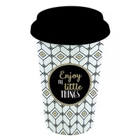 Easy Life Cups & Mugs Coffee Mania Cestovní porcelánový hrnek Enjoy The Little Things 350 ml