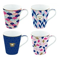 Easy Life Cups & Mugs Coffee Mania Porcelánové hrnky na kávu Home Sweet Home 4 ks