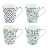 Easy Life Cups & Mugs Coffee Mania Porcelánové hrnky na kávu Tiles Grey 4 ks