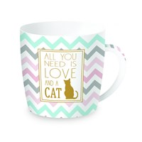 Easy Life Cups & Mugs Coffee or Tea Porcelánový hrnek All You Need Is Love And Cat 350 ml