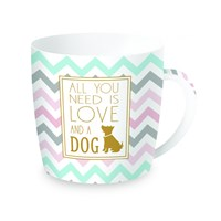 Easy Life Cups & Mugs Coffee or Tea Porcelánový hrnek All You Need Is Love And Dog 350 ml