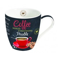 Easy Life Cups & Mugs Coffee Mania Porcelánový hrnek na kávu Makes Everything Possible 350 ml