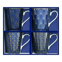 Easy Life Cups & Mugs Coffee Mania Porcelánové hrnky na kávu Art Deco 4 ks