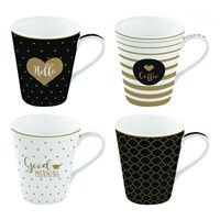 Easy Life Cups & Mugs Coffee Mania Porcelánové hrnky Good Morning 4 ks