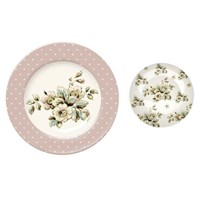 Creative Tops Katie Alice Cottage Flower Dezertní porcelánový talíř 20 cm 2 ks
