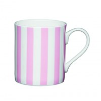 Kitchen Craft Porcelánový hrníček Pink Candy Stripe 250 ml