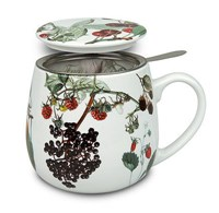 Könitz My Favourite Tea Porcelánový hrnek se sítkem s pokličkou Fruits 420 ml
