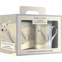 Creative Tops Snow Scenes Polar Bear Dárková sada s hrnkem 235 ml