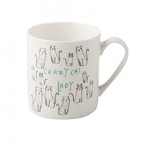 Creative Tops Everyday Home Porcelánový hrnek Crazy Cat Lady 300 ml