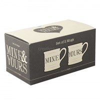 Set porcelánových hrnků Mine and Yours 2 x 280 ml