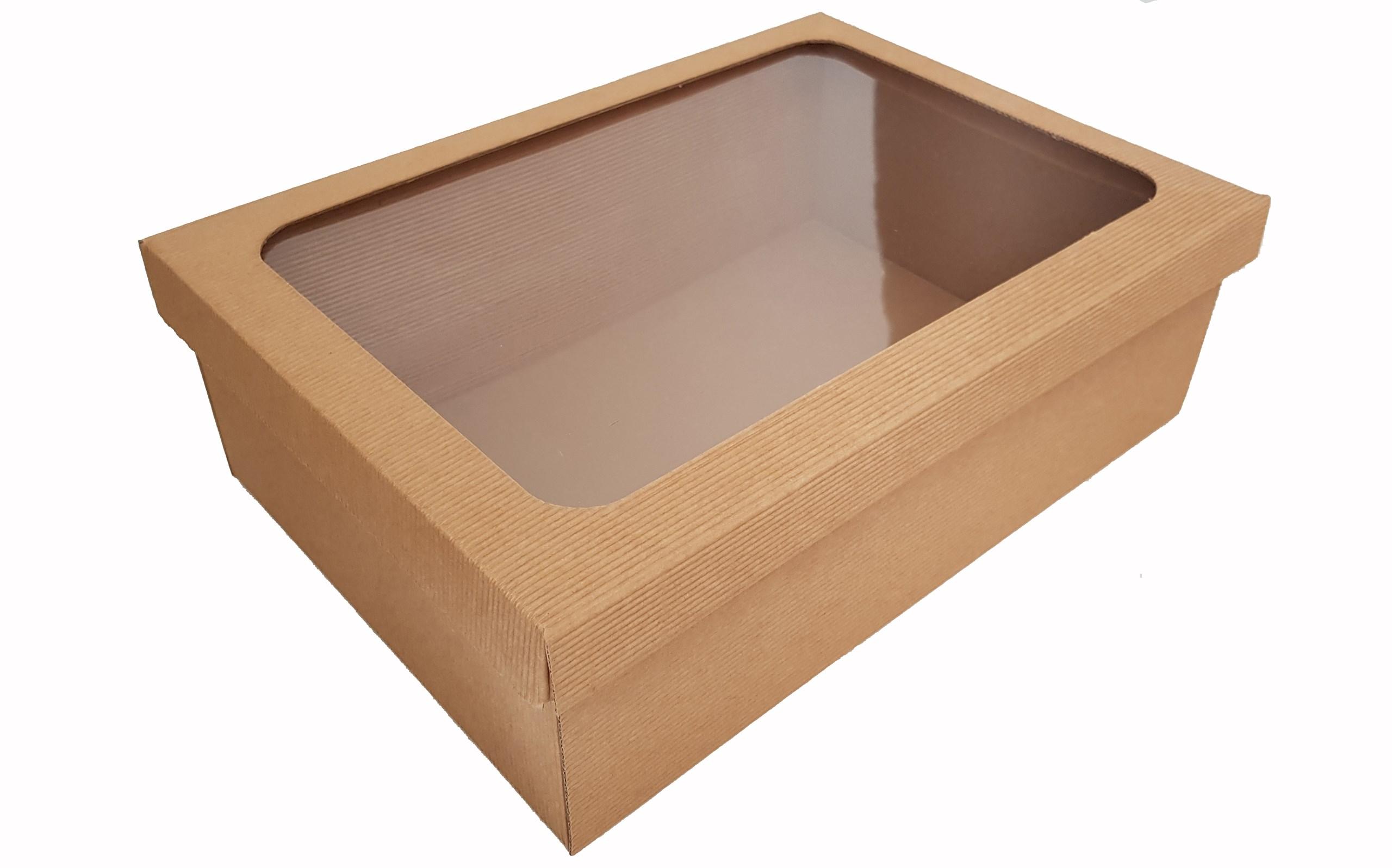 f5a2dd943 Dárková krabice L s průhledným víkem