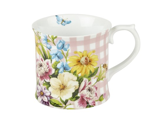 Creative Tops Katie Alice English Garden Porcelánový hrnek růžová kostka 350 ml