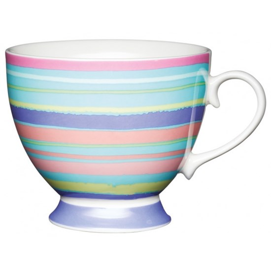Kitchen Craft Porcelánový hrníček Bright Stripe 400 ml