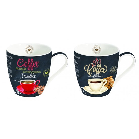 Easy Life Cups & Mugs Coffee Mania Porcelánové hrnnky na kávu It´s Coffee Time 2 ks