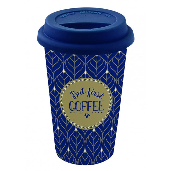 Easy Life Cups & Mugs Coffee Mania Cestovní hrnek But First Coffee 350 ml