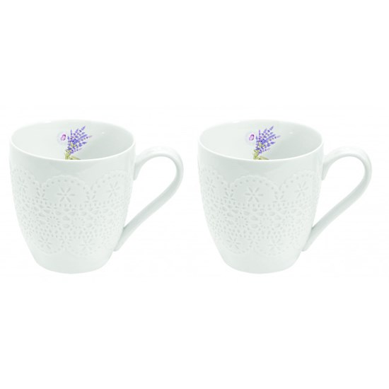 Easy Life Romantic Mood La Belle Maison Porcelánové hrnky Lavender 2 x 350 ml