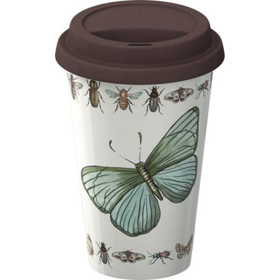 Creative Tops Royal Botanic Gardens Kew Mugs & Travel Mugs Vintage Bugs Porcelánový hrnek do auta (cestovní) 290 ml