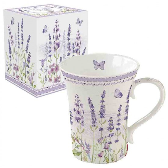 Easy Life Lavender Field Porcelánový hrnek 360 ml