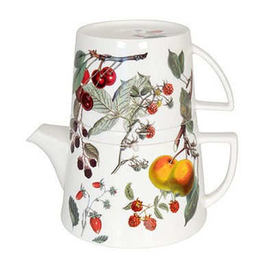 Könitz My Favourite Tea Fruits Porcelánová konvička a hrnek 650 ml