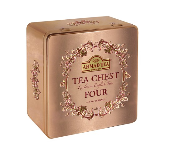 Ahmad Tea Chest Four New Dárkové balení čajů 40 ks