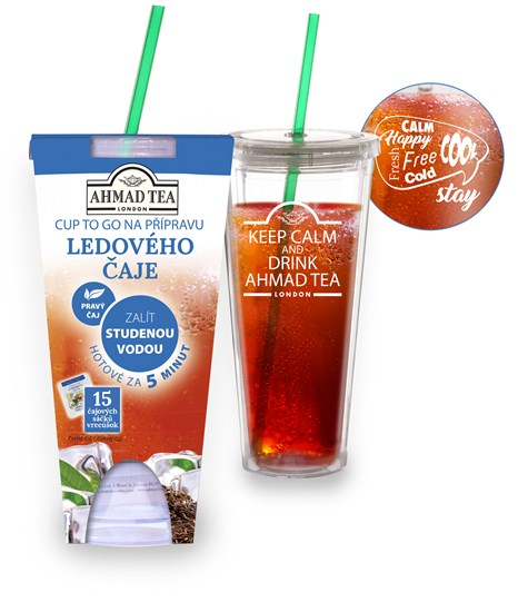 Ahmad Tea Cold Brew Cup to Go 15 ks + kelímek na 470 ml