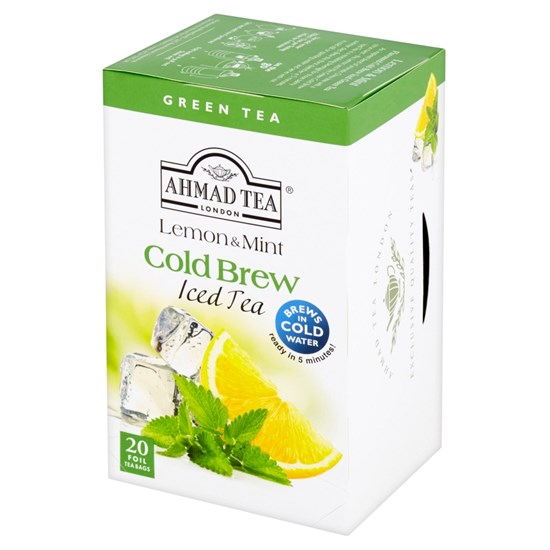 Ahmad Tea Cold Brew Iced Tea Green Lemon & Mint 20 x 2 g