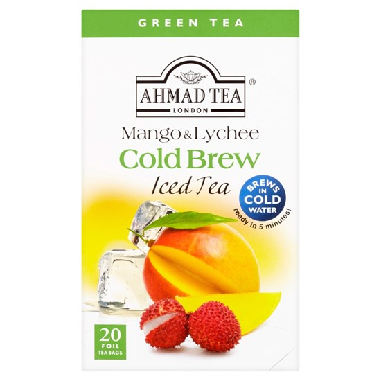 Ahmad Tea Cold Brew Iced Tea Green Mango & Lichee 20 x 2 g