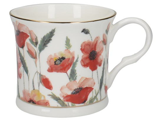 Porcelánový hrnek Watercolour Poppies 295 ml